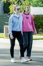 Elle Fanning Out for a walk with her mom in LA