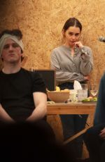 Emilia Clarke On stage of her new West End theatre play