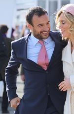 Emilia Fox Spotted kissing and cuddling at Cheltenham Horse Racing Festival