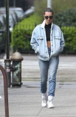 Emily Ratajkowski Enjoys a morning walk with her dog Colombo in New York