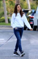 Emmy Rossum Out for a walk in Beverly Hills