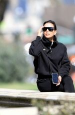 Eva Longoria Enjoys a trip to a park with family in Beverly Hills