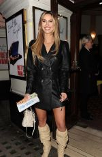 Ferne McCann At Press Night for Pretty Woman at the Piccadilly Theatre in London