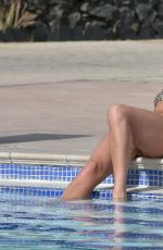 Georgia Harrison Enjoys a day by the pool at her hotel in Tenerife, Spain