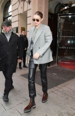 Gigi Hadid Leaves her hotel in Paris, France