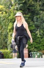 Goldie Hawn Enjoys some fresh air with a walk down her Brentwood Neighborhood with a friend