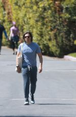 Gwyneth Paltrow And Brad Falchuk keep a safe distance while out walking in Los Angeles