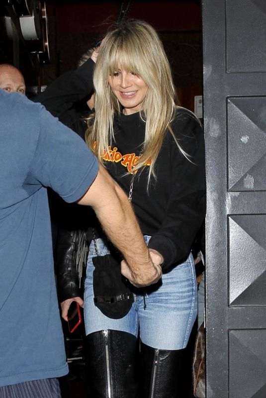 Heidi Klum Leaves the Troubadour in West Hollywood