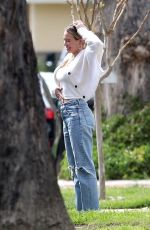 Hilary Duff Outside her home in Los Angeles