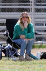 Hilary Duff Seen with her ex-husband and their son at his Football game in Studio City