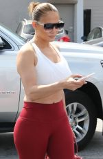 Jennifer Lopez Arrives at the gym looking great in Miami, Florida