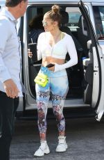 Jennifer Lopez Arriving at the gym in Miami