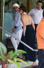 Jennifer Lopez Heads to lunch at the Standard Hotel in Miami