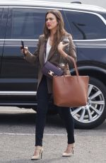 Jessica Alba Going to a meeting in Beverly Hills