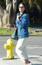 Jordana Brewster and her family are spotted out for a walk during the coronavirus lockdown in Brentwood