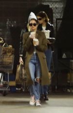 Kaia Gerber & Cara Delevingne Seen out shopping with friends at Erewhon in West Hollywood
