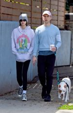Kaia Gerber Out on a dog walk in Los Angeles