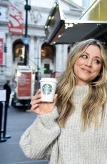 Kaley Cuoco At Starbucks Shine from the Start Spring Campaign in New York