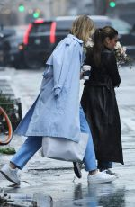 Karlie Kloss Walking with a friend in New York City