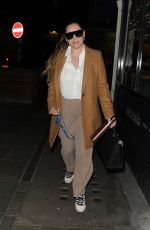 Kelly Brook Leaving the Heart FM studios in London