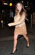 Kelly Brook Outside Heart Radio in London