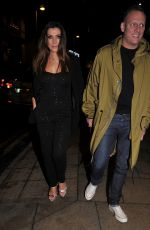 Kym Marsh and Antony Cotton enjoy night out at Rosso Restaurant in Manchester
