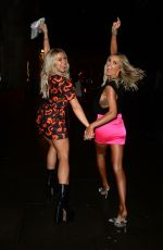 Laura Anderson & Gabby Allen Seen at Hard Rock Hotel Oxford Street in London