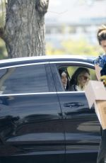 Laura Dern And her son maintain a safe distance visiting friends in Los Angeles