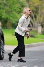 Laura Dern Steps out of isolation for a quick visit to her friend Reese Witherspoon in Los Angeles