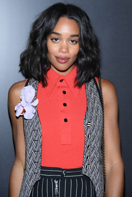 Laura Harrier At Louis Vuitton show at Paris Fashion Week Womenswear F/W 20/21