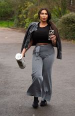 Lauren Goodger Arriving home after popping out to stock up on toilet rolls
