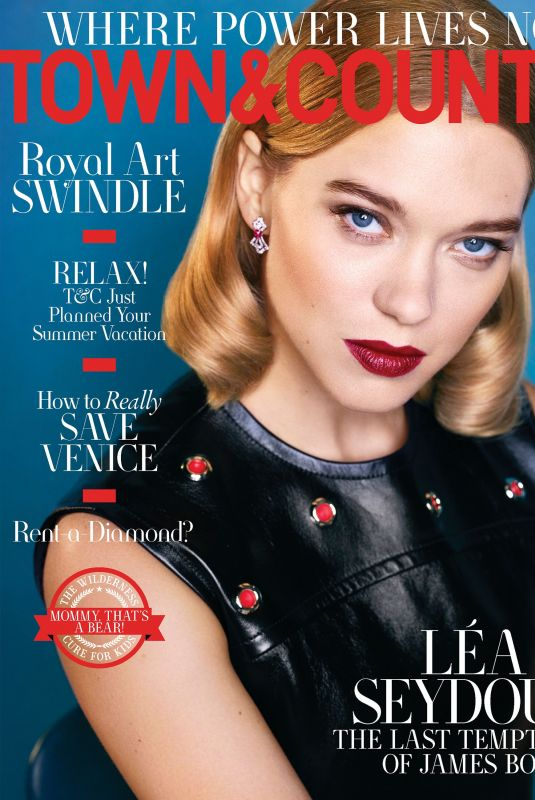 Lea Seydoux - Town & Country Magazine PS by Max Vadukul - April 2020