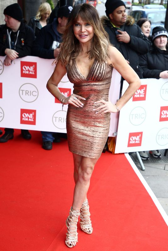 Lizzie Cundy At TRIC Awards at the Grosvenor House Hotel, London