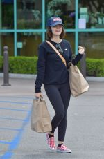 Lucy Hale Keeps her social distance in mind as she shops for groceries in Studio City