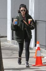 Lucy Hale Outside Alfred