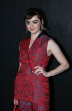 Maisie Williams At Givenchy Show at Paris Fashion Week in Paris, France