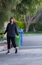 Mary Steenburgen Gets some fresh air with her dog in Los Angeles
