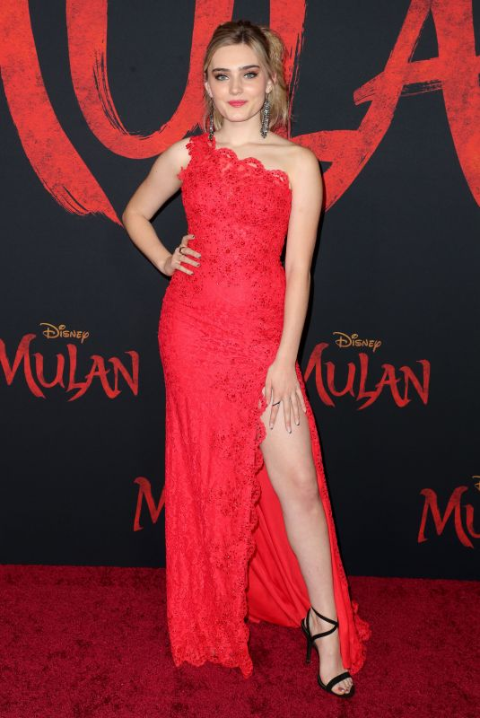 Meg Donnelly At Mulan Premiere in LA