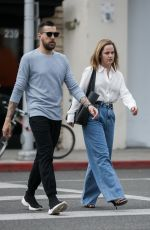 Mena Suvari Out for lunch at Urth Caffé in Beverly Hills