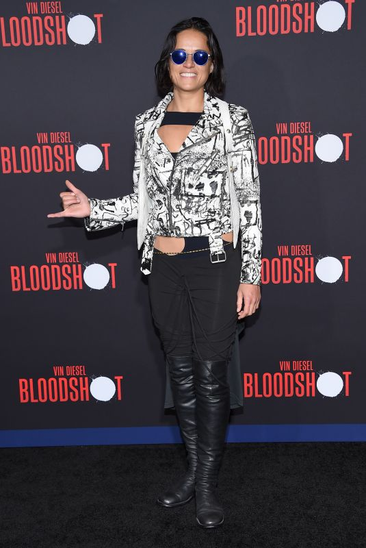 """Michelle Rodriguez Attending the """"Bloodshot"""" Premiere in Los Angeles"""