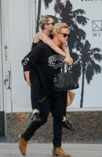 Miley Cyrus Gets a lift from her lover Cody Simpson after lunch in Malibu