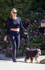 Molly Sims Walking her dog in Brentwood