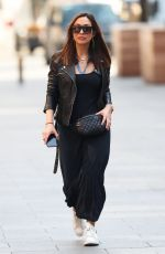 Myleene Klass Arrives for work at the Global Offices in London