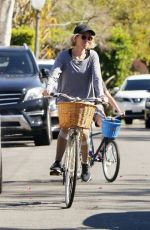 Naomi Watts and her son Sasha take a bike ride through Brentwood