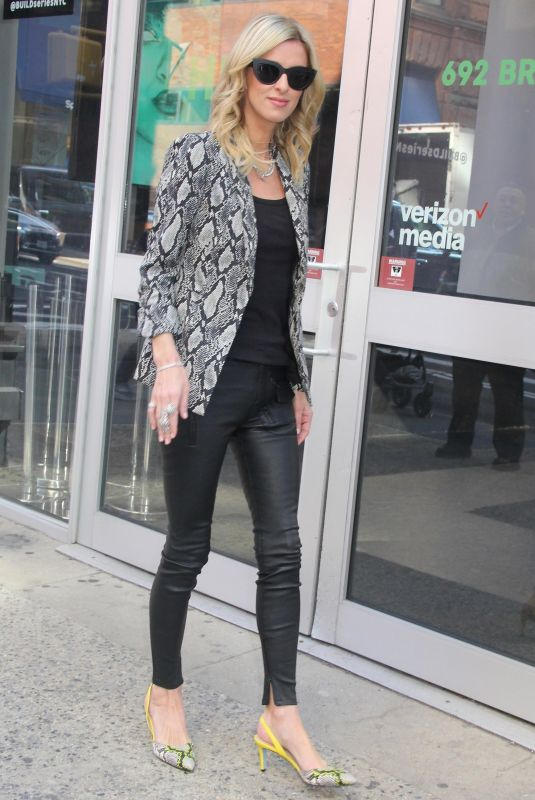 Nicky Hilton Makes a stop by AOL building in New York