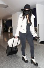 Nicole Scherzinger Brave Coronavirus at LAX airport in Los Angeles