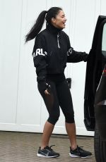 Nicole Scherzinger Is full of life as she leaves a personal training session with her boyfriend Thom Evans