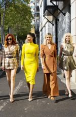 Nicole Scherzinger, Jessica Sutta, Carmit Bachar, Kimberly Wyatt & Ashley Roberts After a morning television performance