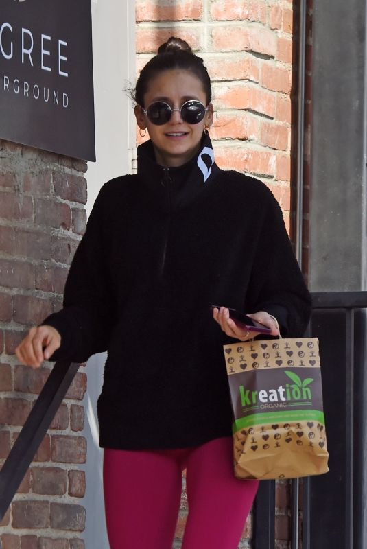 Nina Dobrev Leaving a workout in West Hollywood