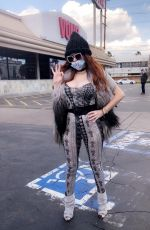 Phoebe Price Wear her own custom Mask in Beverly Hills